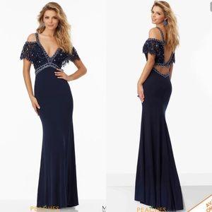 Mori Lee Navy Blue Dress